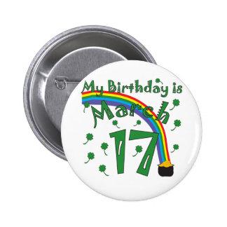 Cumpleaños del día de St Patrick Pins