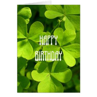 Cumpleaños del día de St Patrick Tarjeta De Felicitación