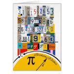 Cumpleaños del día del pi, números de crujido tarjeta de felicitación