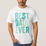 Cumpleaños del día el mejor de padre certificado poleras