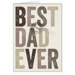 Cumpleaños del día el mejor de padre certificado tarjeta de felicitación