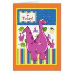 Cumpleaños del dinosaurio tarjetas