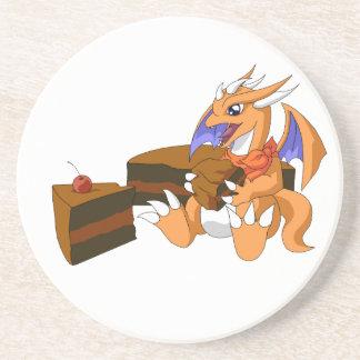 Cumpleaños del dragón con el práctico de costa de  posavasos de arenisca