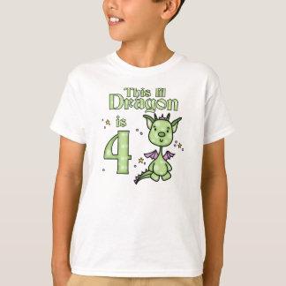 Cumpleaños del dragón de Lil 4to Playera