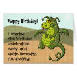 Cumpleaños del dragón tarjeta