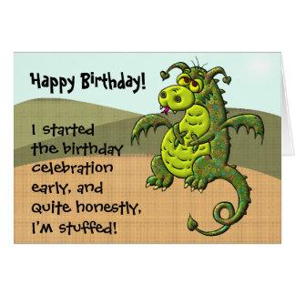 Cumpleaños del dragón tarjeta de felicitación