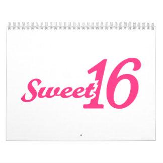 Cumpleaños del dulce 16 calendario