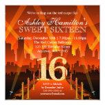 Cumpleaños del dulce 16 de la ciudad de la invitación