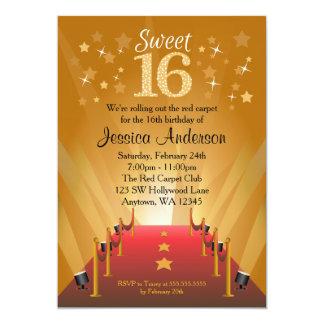 """Cumpleaños del dulce 16 de la estrella de invitación 5"""" x 7"""""""