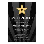Cumpleaños del dulce 16 de la estrella del oro de  anuncios personalizados