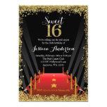 """Cumpleaños del dulce 16 del brillo de Hollywood de Invitación 5"""" X 7"""""""
