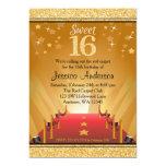 """Cumpleaños del dulce 16 del oro de la estrella de invitación 5"""" x 7"""""""