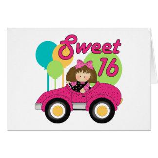 Cumpleaños del dulce 16 tarjeta