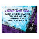 Cumpleaños del dulce dieciséis de Rockin Invitaciones Personales