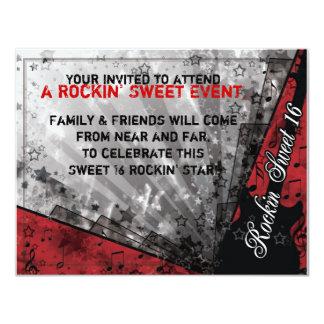 Cumpleaños del dulce dieciséis de Rockin Invitación 10,8 X 13,9 Cm