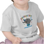 Cumpleaños del elefante del circo 3ro camisetas