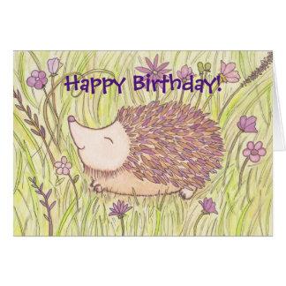 Cumpleaños del erizo tarjeta de felicitación