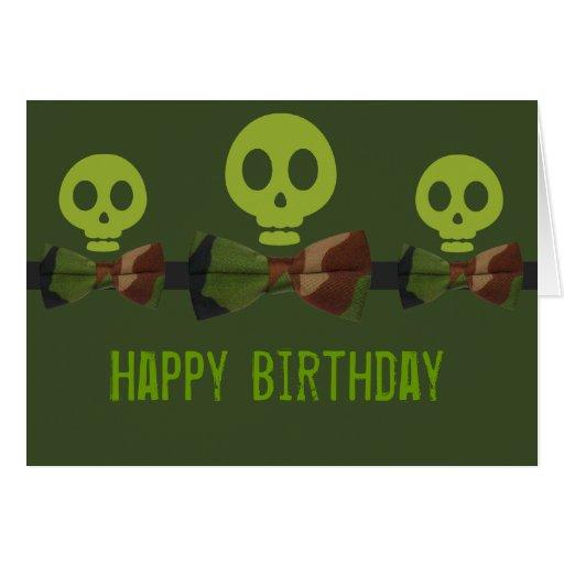 Cumpleaños del esqueleto de Camo Tarjeta De Felicitación