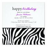 Cumpleaños del estampado de zebra anuncio