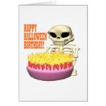 Cumpleaños del feliz Halloween Felicitacion