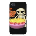 Cumpleaños del feliz Halloween iPhone 4/4S Fundas