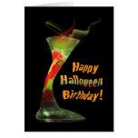 Cumpleaños del feliz Halloween Tarjetas