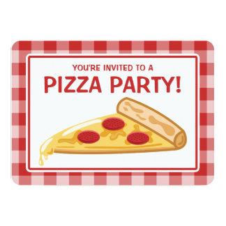 Cumpleaños del fiesta de la pizza invitación 12,7 x 17,8 cm