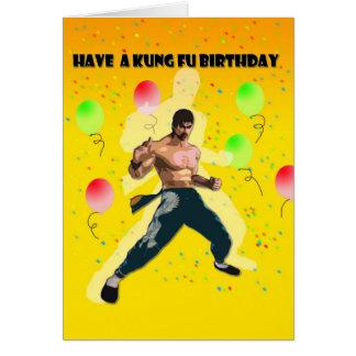 cumpleaños del fu del kung tarjeta de felicitación
