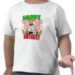 Cumpleaños del fútbol de los niños camiseta