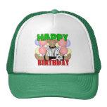 Cumpleaños del fútbol de los niños gorras de camionero