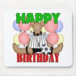 Cumpleaños del fútbol de los niños tapete de ratones