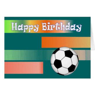 Cumpleaños del fútbol del fútbol tarjeta de felicitación