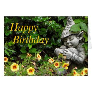Cumpleaños del gnomo del jardín feliz felicitacion