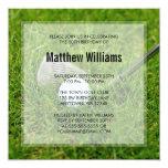 Cumpleaños del golf invitación 13,3 cm x 13,3cm