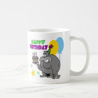Cumpleaños del gorila tazas