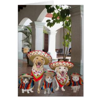 Cumpleaños del grupo en español tarjeta de felicitación