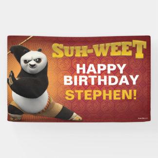 Cumpleaños del guerrero de la panda el   Po de Lona