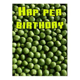 Cumpleaños del guisante del Hap Postal