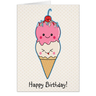 Cumpleaños del helado feliz felicitaciones