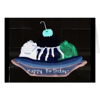Cumpleaños del helado tarjeta de felicitación
