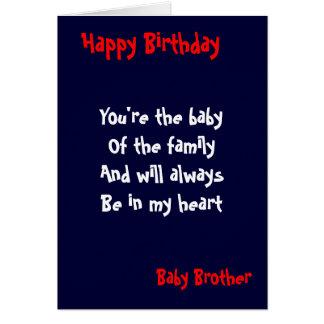 Cumpleaños del hermano del bebé tarjeta de felicitación