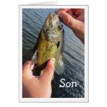 Cumpleaños del hijo del humor de la pesca a modifi tarjeta