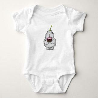 Cumpleaños del hipopótamo - feliz cumpleaños body para bebé