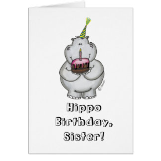 Cumpleaños del hipopótamo - feliz cumpleaños tarjeta de felicitación