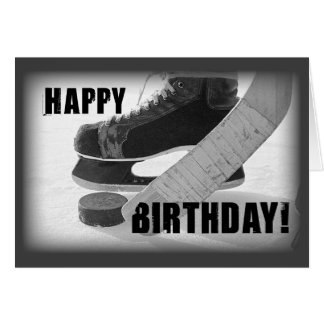 Cumpleaños del hockey 3816 tarjeta de felicitación