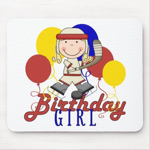 Cumpleaños del hockey de los chicas tapete de raton