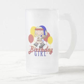 Cumpleaños del hockey de los chicas taza de cristal
