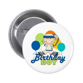 Cumpleaños del hockey de los muchachos pin