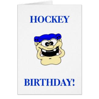 Cumpleaños del hockey tarjeta de felicitación