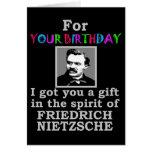 Cumpleaños del humor de Nietzsche Tarjeta De Felicitación